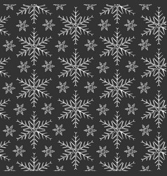 pattern with snowflakes vector image