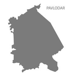 Pavlodar kazakhstan map grey vector