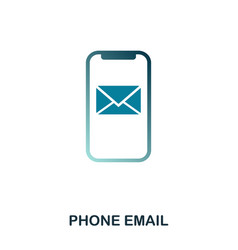 phone email icon flat style icon design ui vector image