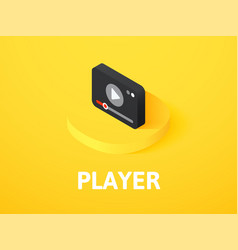 player isometric icon isolated on color vector image