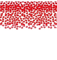 rain red hearts love design vector image