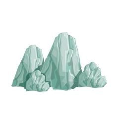 Range Of Grey Rocks Natural Landscape Design vector