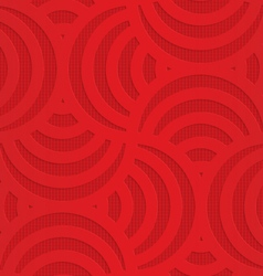 Red turning arcs on checkered background vector