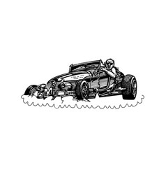 retro hotrod car clipart cartoon vector image