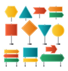 road signs traffic highway dirrection travel road vector image