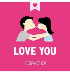 Romantic card67 vector image