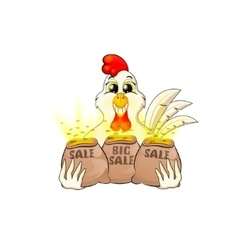 rooster sale symbol of 2017 vector image