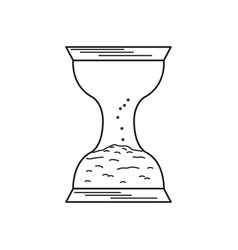 sand watch icon vector image