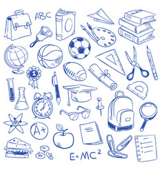 school education science geography biology vector image