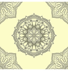 Seamless background of circle floral pattern vector image