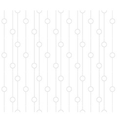seamless pattern of lines and circles modern vector image
