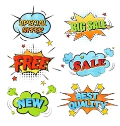 Set of cartoon labels vector image