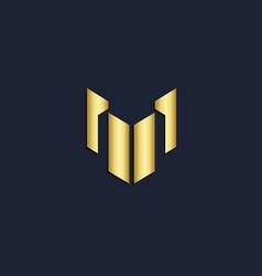 shape line business company gold logo vector image
