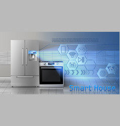 smart house concept background vector image
