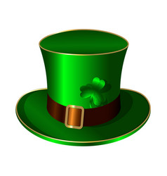 st patricks day green hat belt buckle shamrock vector image