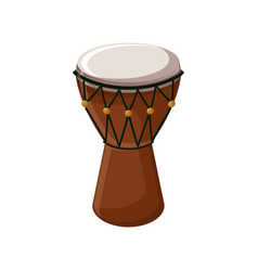 Turkish traditional drum isolated over white vector