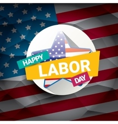 Usa labor day background or poster vector