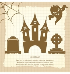 Vintage halloween poster vector image