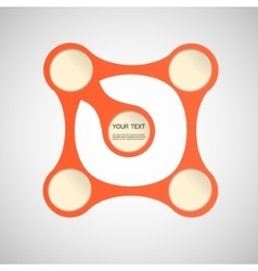 abstract orange figure on a white background vector image