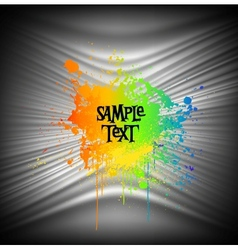 Abstract Paint Splash Background vector image