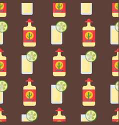 alcohol drinks seamless pattern beverages cocktail vector image