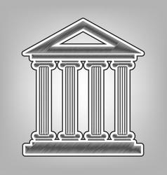 historical building pencil vector image