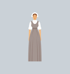 mormon woman in traditional dress vector image