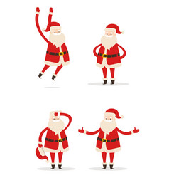 santa christmas collection vector image