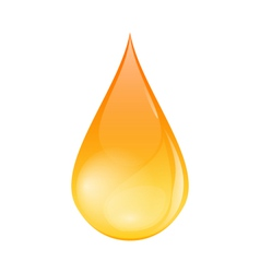 Single of Oil Drop Isolated on White Background vector image