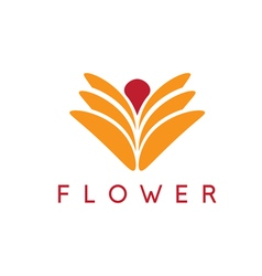 Abstract icon design template of flower vector