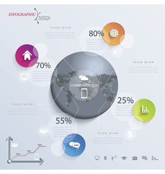 Abstract modern Infographic or presentation vector image