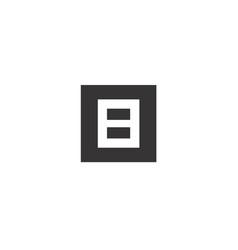 b block logo vector image vector image
