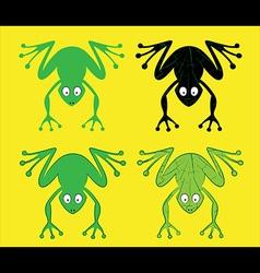 Cartoon frog silhouette vector