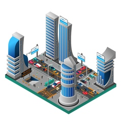 City Of Future Isometric Template vector image