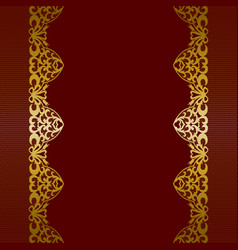 gold lace borders vector image vector image