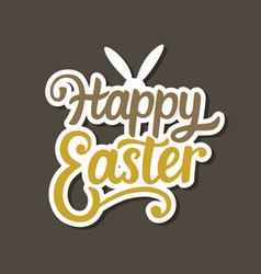 happy easter banner background template vector image