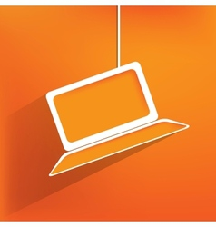 Notebook web iconflat design vector image