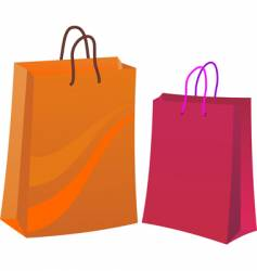 two shopping bags vector image