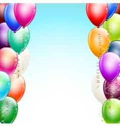 balloons borders vector image vector image