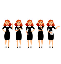 business woman in various poses flat vector image vector image