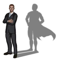 businessman superhero concept vector image vector image
