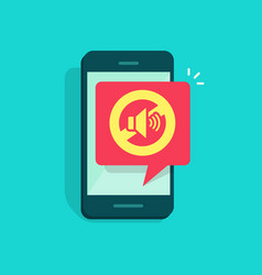 mute mode sign for mobile phone vector image