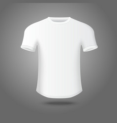 White isolated mans t-shirt on gray background for vector