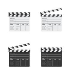 clapper board black and white vector image