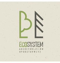 ecological emblem template vector image