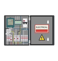 Electrical panel vector image vector image