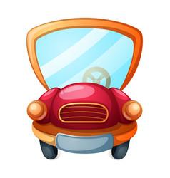 Funny cute cartoon car vector