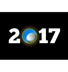 Happy New Year on the background of a golf ball vector image vector image