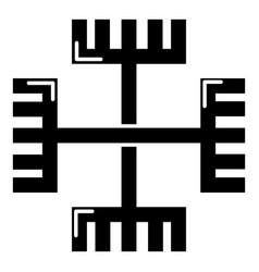 pagan ancient symbol icon simple style vector image