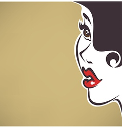 pin up face vector image vector image